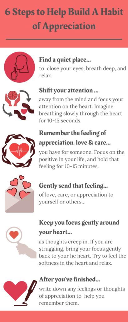Six Steps to Help Build a Habit of Appreciation